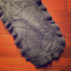 JCrew Soft Scalloped Gray Scarf